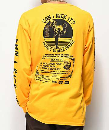 Open925 Protect Ya Neck Yellow Long Sleeve T-Shirt