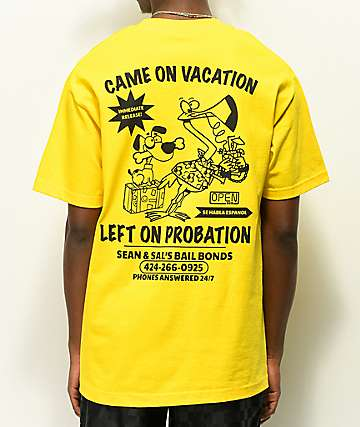 Open925 Sean & Sal's Bail Bonds Yellow T-Shirt