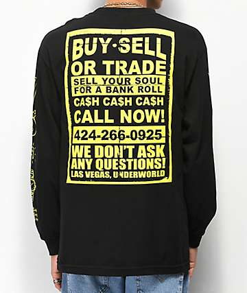 Open925 The Don's Pawn Black Long Sleeve T-Shirt