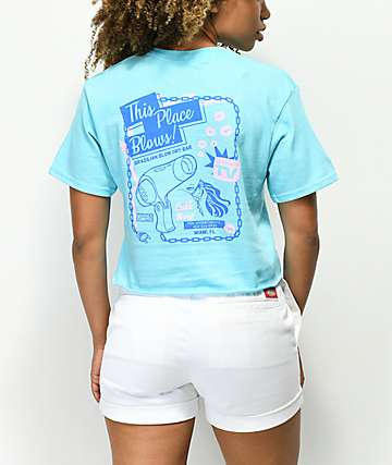 Open925 This Place Blows camiseta corta azul