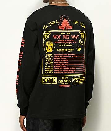 Open925 Wok This Way Black Long Sleeve T-Shirt