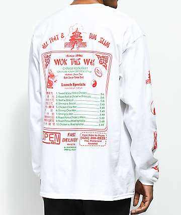 Open925 Wok This Way White Long Sleeve T-Shirt