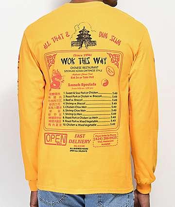 Open925 Wok This Way camiseta amarilla de manga larga
