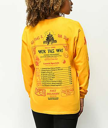 Open925 Wok This Way camiseta dorada de manga larga