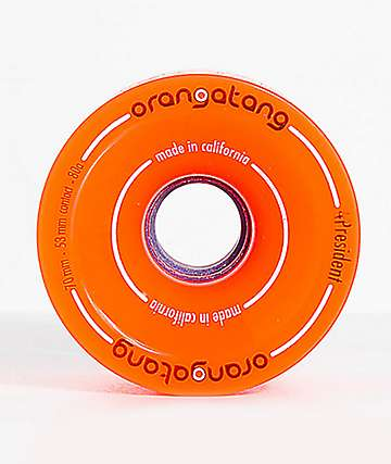 Orangatang 4President 70mm 80a Orange Longboard Wheels