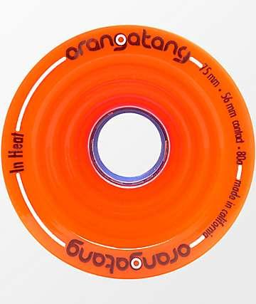 Orangatang In Heat 75mm 80a ruedas de longboard en color naranja