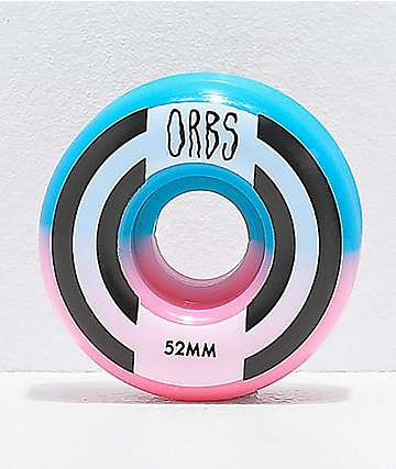 Orbs Wheels Apparitions Split 52mm 99a Pink & Blue Skateboard Wheels