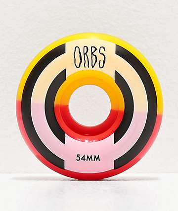 Orbs Wheels Apparitions Split 54mm 99a Red & Yellow Skateboard Wheels