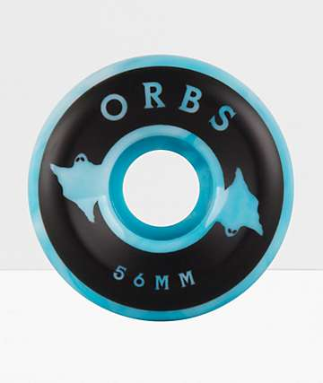 Orbs Wheels Specters Swirls 56mm 99a Blue & White Skateboard Wheels