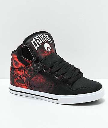 Osiris Clone Huit Battle zapatos skate en negro y rojo