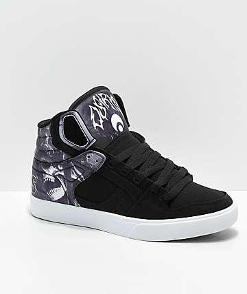 on sale 95861 7a033 Osiris Clone Huit King Black Skate Shoes