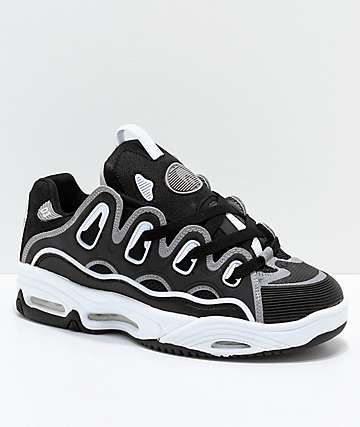 Osiris D3 2001 Black, Grey & White Skate Shoes