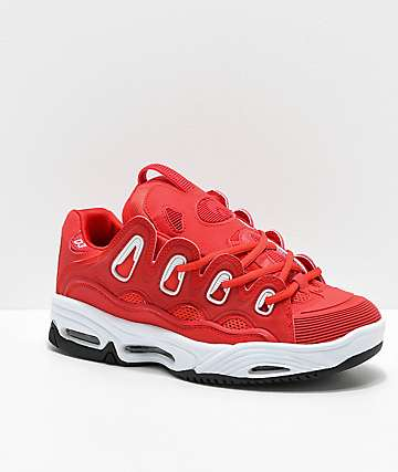 Osiris D3 2001 Red & White Skate Shoes