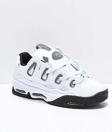 Osiris D3 2001 zapatos de skate en blanco, gris y negro