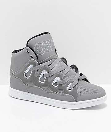 Osiris D3H Grey, Black & White Reflective Skate Shoes