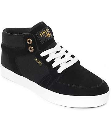 Osiris Helix Black & White Skate Shoes
