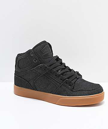 7da572e0a6 Osiris NYC 83 VLC Black & Gum Denim Skate Shoes