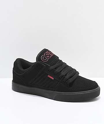 Osiris Protocol zapatos de skate en negro y rojo