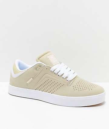 Osiris Techniq Vulc zapatos de skate en beis y blanco