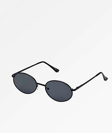 Oval Rounds Black Sunglasses