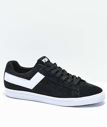 PONY Top Star Lo Black & White Suede Shoes