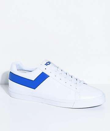 PONY Topstar Lo White & Royal Blue Shoes