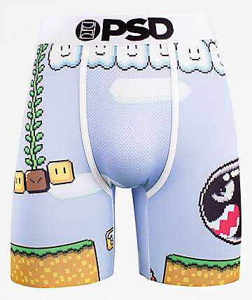 PSD Bullet Game Light Blue Boxer Briefs