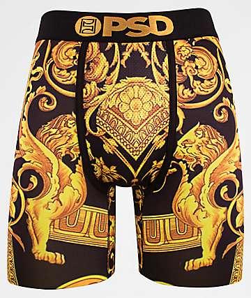 PSD Gold Sace Black Boxer Briefs