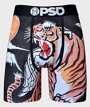 PSD Souvenir Tiger Wings Black & Orange Boxer Briefs