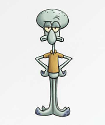 PSD x SpongeBob Squidward Sticker