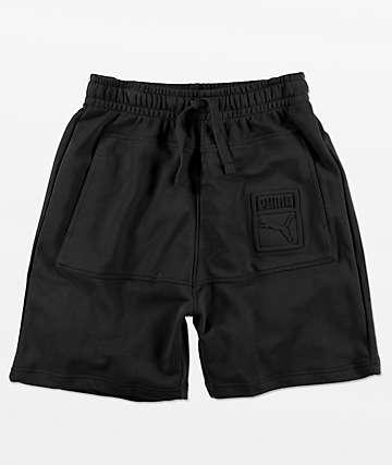 PUMA Archive shorts de rizo en negro