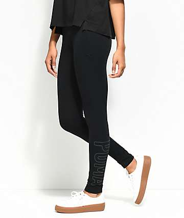 PUMA Athletic Black Leggings