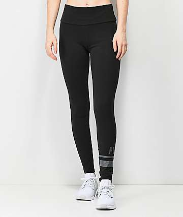 PUMA Athletic Logo Black Leggings