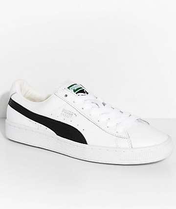 PUMA Basket Classic LFS zapatos en blanco y negro