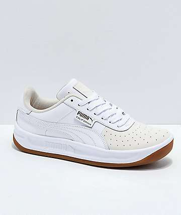 PUMA California Exotic Tan, Gum & White Shoes