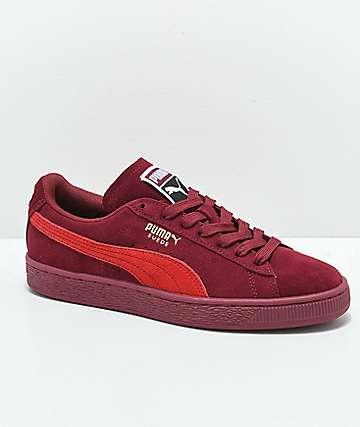 PUMA Classic+ Pomegranate zapatos de ante borgoño