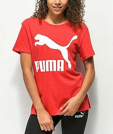 PUMA Classic Logo camiseta roja