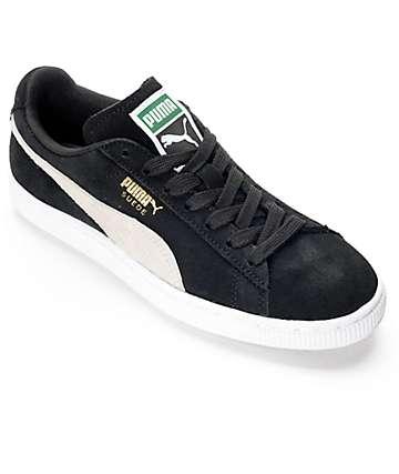 PUMA Classic zapatos de ante negro para mujeres