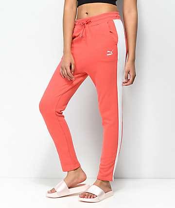 PUMA Classics Logo pantalones de chándal en coral