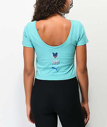 PUMA Claw Blue Crop T-Shirt