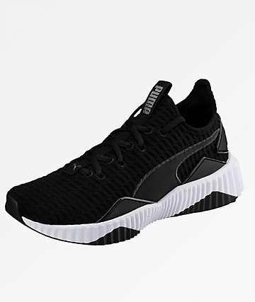 PUMA Defy Black & White Shoes