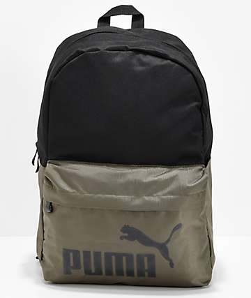 PUMA Evercat Lifeline Black & Olive Backpack