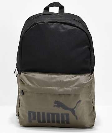 PUMA Evercat Lifeline Black & Olive Backpack