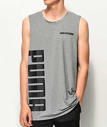 PUMA Forever Grey & Black Tank Top