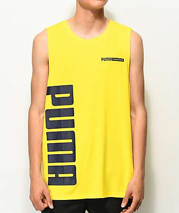 PUMA Forever Yellow & Black Tank Top