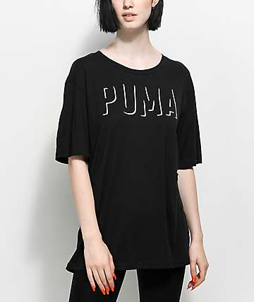 PUMA Fusion Black Elongated T-Shirt