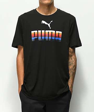 PUMA Graphic camiseta negra