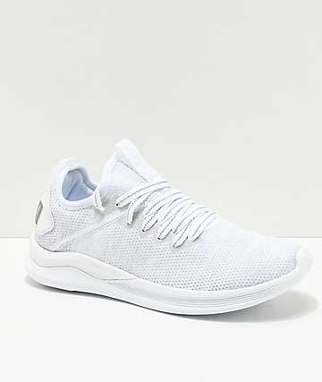 PUMA Ignite Flash Evoknit Grey & White Shoes