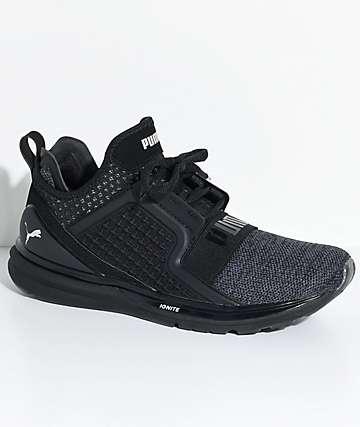 PUMA Ignite Limitless zapatos tejidos en negro y color plata