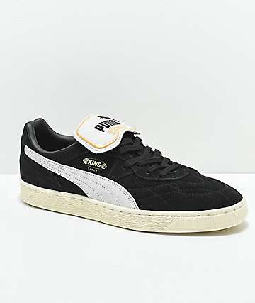 PUMA King Suede Black & Whisper White Shoes